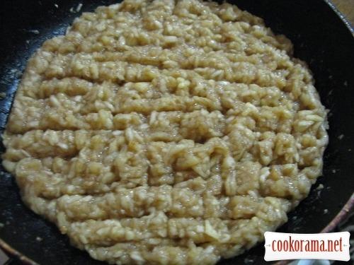 Pancakes with apple-lemon cream
