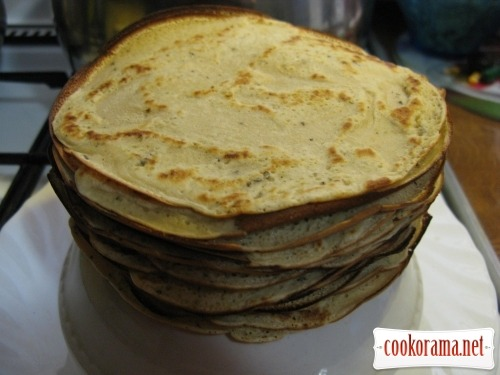 Pancakes with pate