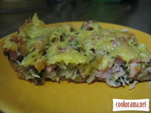 Піца з квашеною капустою