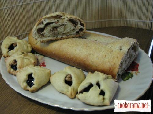 Печиво «конвертики» і рулет з сирного тіста