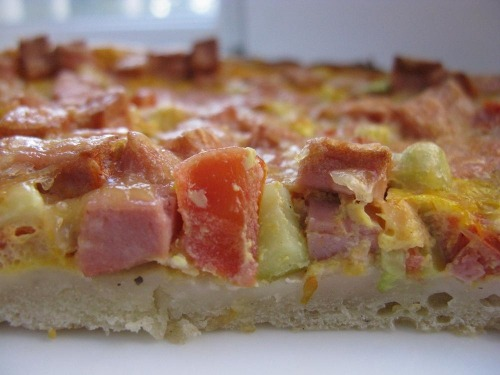 Сочная пицца на кефирном тесте