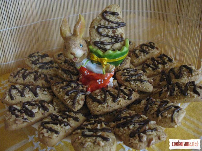 Ореховое печенье с орехом