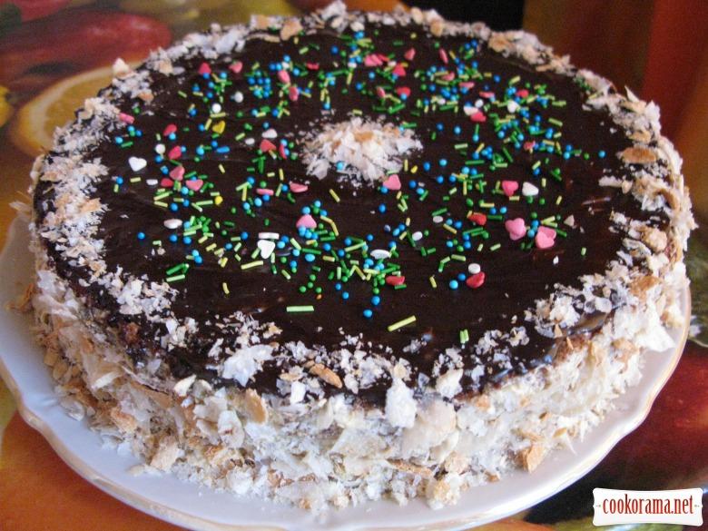 бісквітний торт заварним кремом рецепт з фото