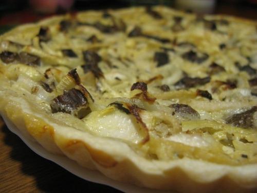 Ельзаський пиріг - Фламмкухен з грибами