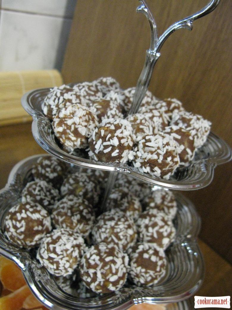 Шоколадні кульки з горіхами