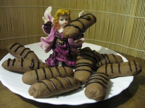 Шоколадное, песочное печенье