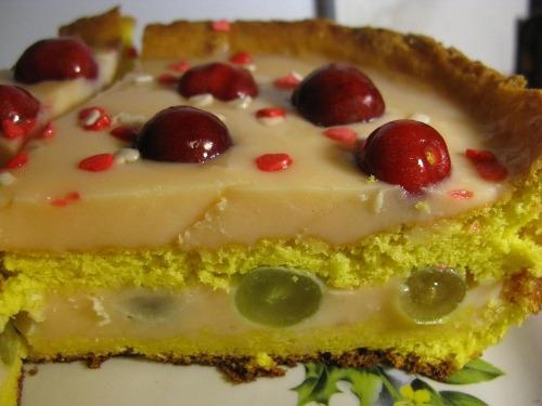 Торт с ягодами и желе