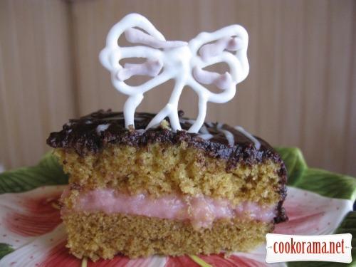 Торт-манник из микроволновки с зефирный кремом