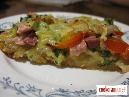 Пицца вкусная и сочная :)