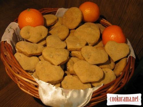 Овсяно-ореховое печенье с цитрусовым ароматом
