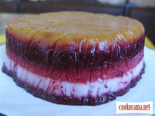 Фруктово-ягодный торт-желе