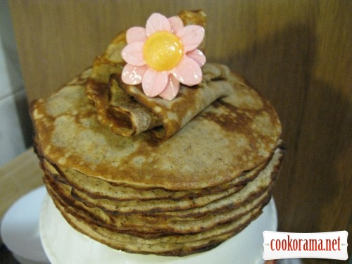 Nut pancakes, without flour