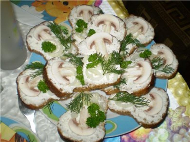 Закуски и бутерброды з фото