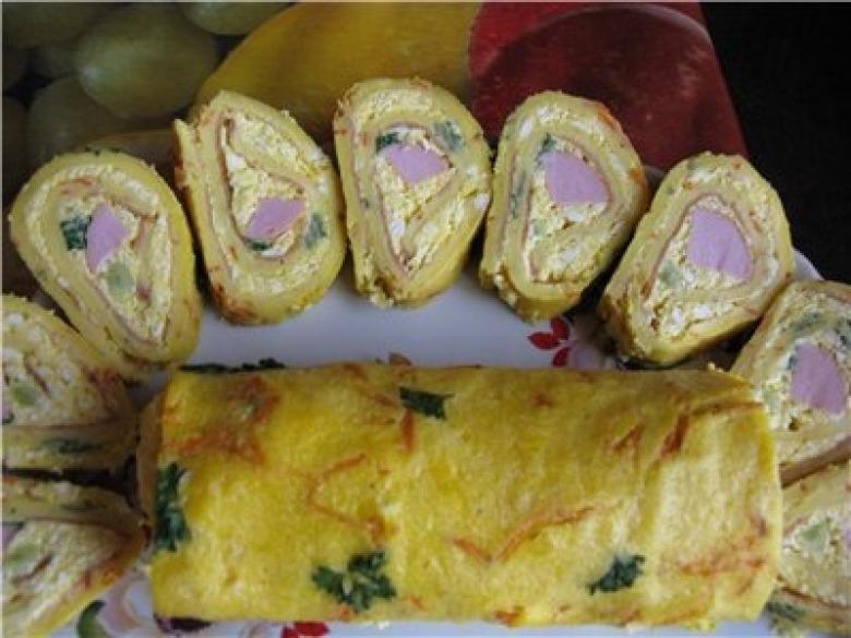 Roll - snack omelet