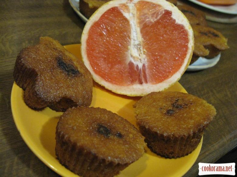 Кексики с грейпфрутом