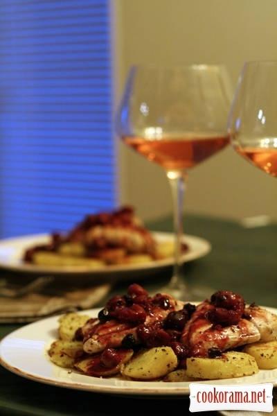Magret aux cerises - утиное филе в вишнях