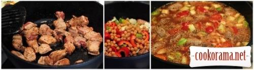 Тажин с говядиной и овощами