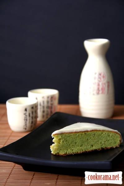 Кекс с зеленым чаем