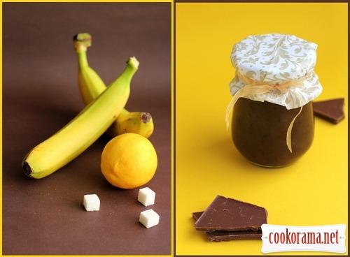 Бананово-шоколадний джем