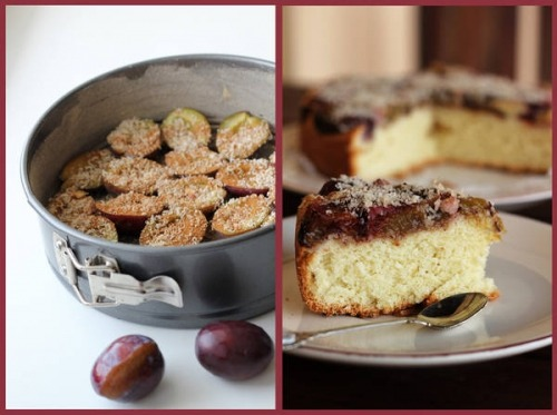Biscuit with plums