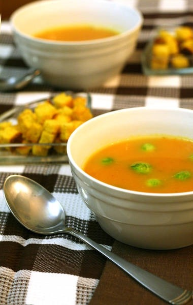 Pumpkin-ginger soup