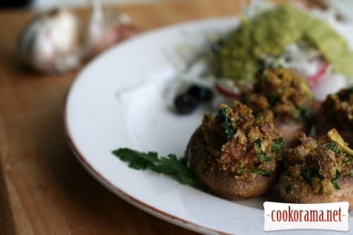 Фаршированные грибы и заправка к салату