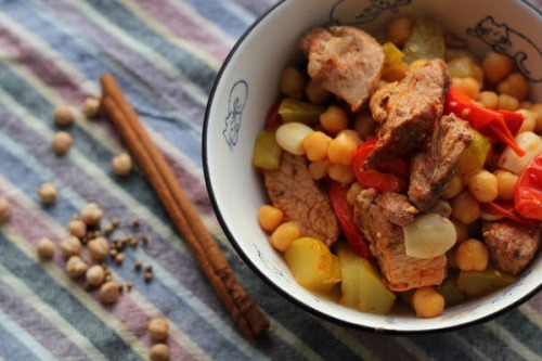 Tazhin with beef and vegetables