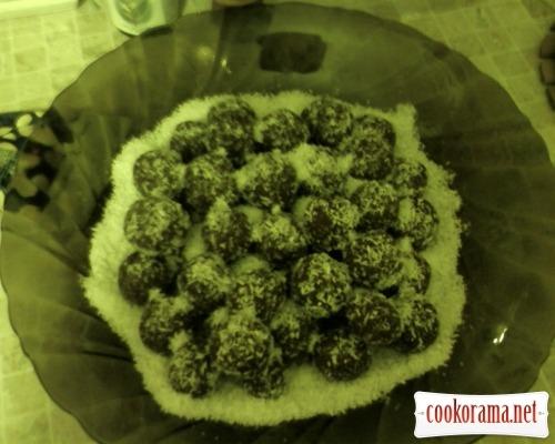 Пирожные без выпечки «Шоколадные жемчужины»