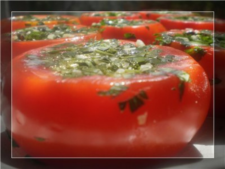 Tomatoes in the Volga style