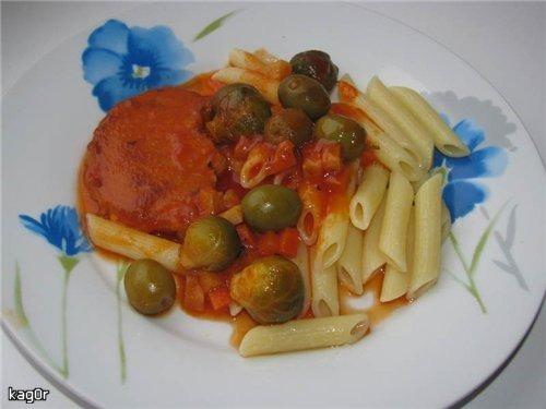 Медальйони з овочами в томаті