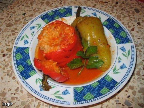 Перец начиненный рисом и мясом