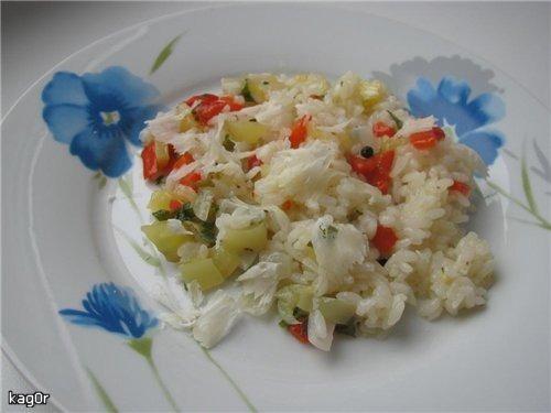 Рис со сладким перцем