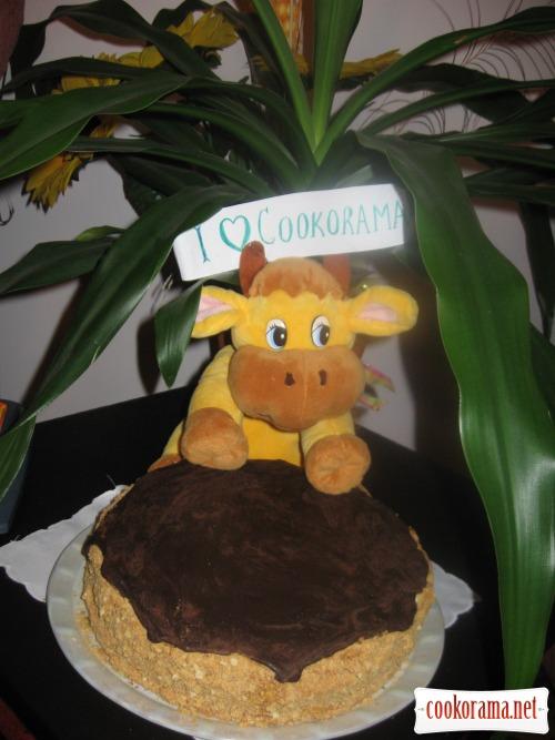 Торт «Їжачок-медівничок»