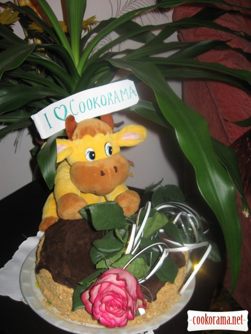 Cake «Hedgehog-honey fan»