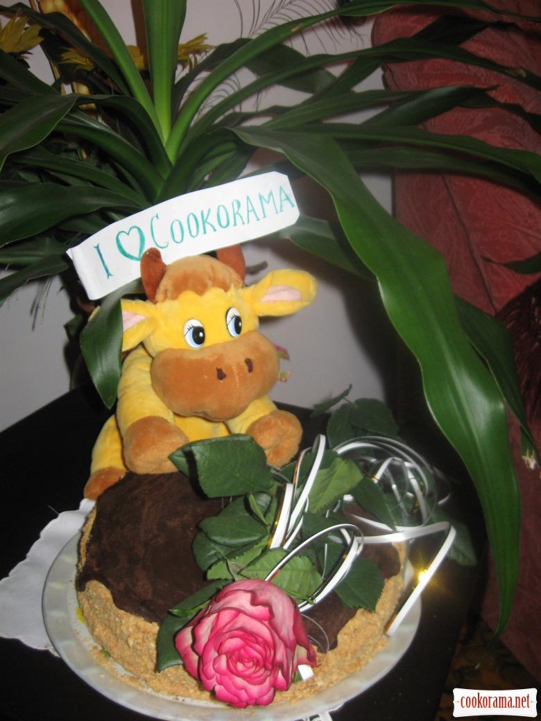 "Cake ""Hedgehog-honey fan"""