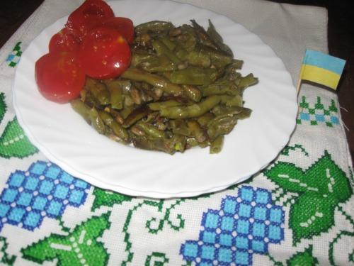 Roasted asparagus beans
