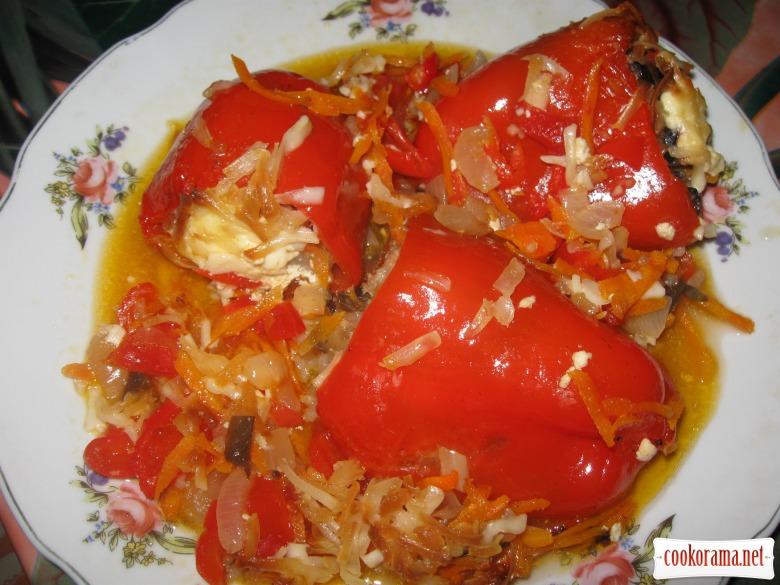 Перец фаршированный запеченный в духовке