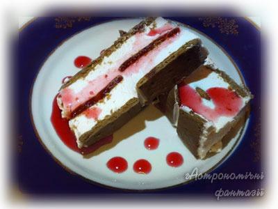 Десерт из крекеров и творога