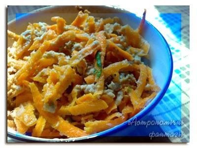 Салат из моркови и тунца
