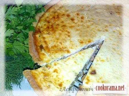 Пиріг «а-ля Киш» зі шпинатом та лососем