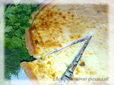 Пирог а-ля Киш со шпинатом и лососем