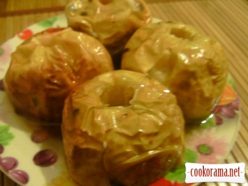 Яблоки печеные с медом