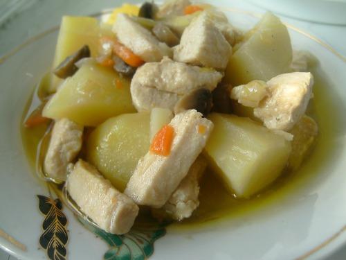 Картофель тушеный по-домашнему
