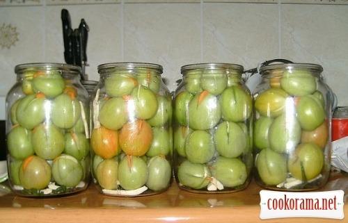 Мариновані зелені помідори