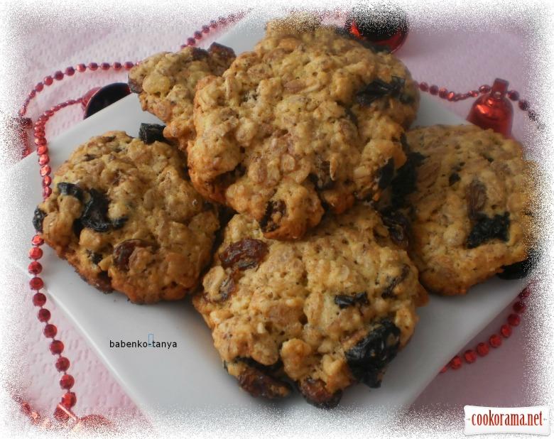Домашнє вівсяне печиво з сухофруктами