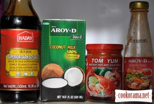 Thai soup Tom Yam Kung