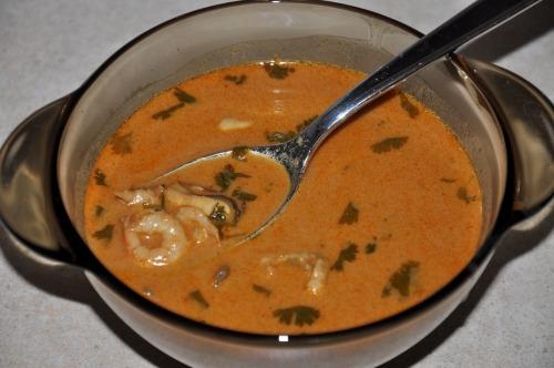 """Thai soup """"Tom Yam Kung"""""""