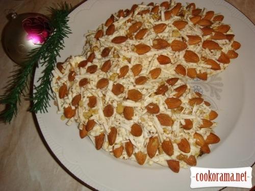 Новорічний салат «Соснові шишки»