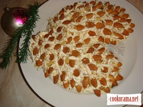 New Year`s salad «Pine cones»