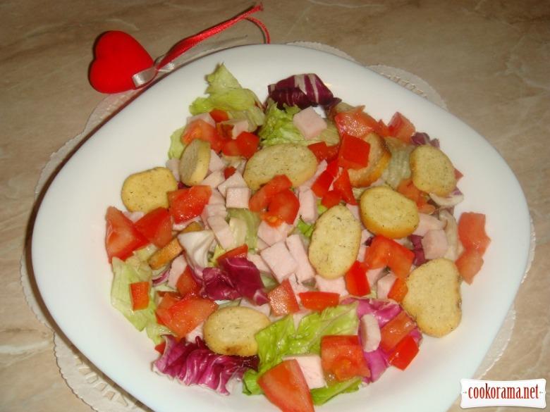 Салат «Цезар» для закоханих